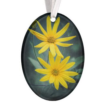 Two yellow flowers of Jerusalem artichoke Ornament