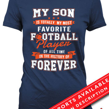 Football Mom Shirt Football Shirts For Mom Sports Mom Gift Football Lover Shirt Football Gifts For Mom Sports Fan Ladies MD-665(Football)