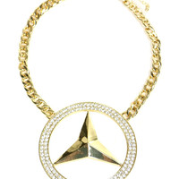 BENZ BLING NECKLACE