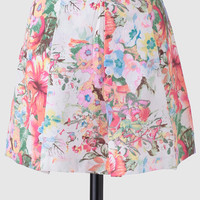 Courtyard Meetings Floral Skirt