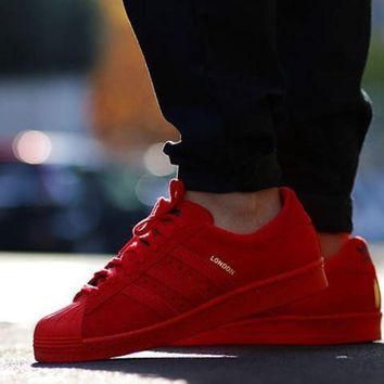 VON3TL Adidas Originals Superstar City Pack Red Classic Sneaker Sprot Shoes