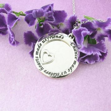 Chance Made Us Sisters Necklace in Sterling Silver