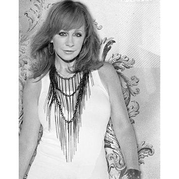 Reba Mcentire Poster Standup 4inx6in black and white