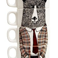 Mr Geography Teacher Espresso Cups | Jimbob Art | Wolf & Badger