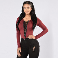 Hollow Out Front Tops Women Autumn Lace Up Causal Long Sleeve Shirt Ladies Tops