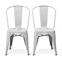 Carlisle High Back Metal Dining Chair - Set of 2