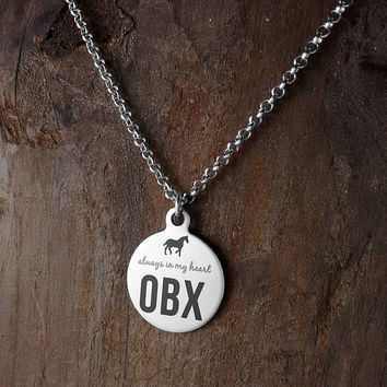 North Carolina, Ocean, OBX, Vacation, Keepsake Necklace, Always in my heart, horses, good causes, Outer Banks, Wild Horses, Free Gift Wrap