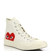 Comme des Garcons Play - Canvas High-Top Sneakers