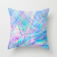 Unicorn Tears Throw Pillow by The Backwater Co