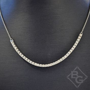 Ben Garelick Flexible Bar Diamond Necklace