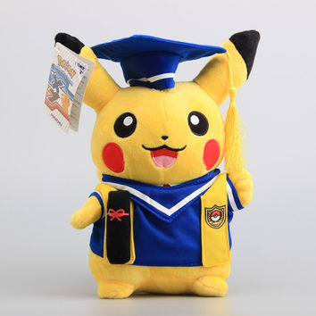 Pikachu Graduation Gift Plush Doll (Blue Clothes)