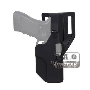 Tactical Quick Reload Right Hand Belt Pistol Holster Black Polymer Automatic Holster for Glock 17 18 19 22 23