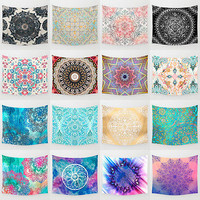 Vintage Mandala Hippie Hanging Bohemia Polyester Retro Wall Tapestry Home Decor
