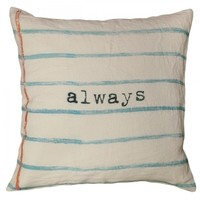 Sugarboo Designs Always Pillow | A Cottage in the City