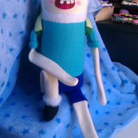 MADE TO ORDER, Inspired by Adventure Time, 21 Inch Finn Plush :3