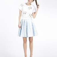 Cynthia Rowley - Wrinkle Print Knee Skirt | New Arrivals
