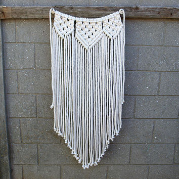 Small macrame garland Wall tapestry Scandinavian wall decor Macrame wall hanging Boho nursery decor Living room decor Bohemian backdrop