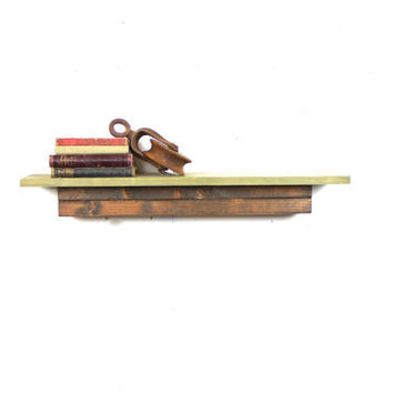 Hand Made Floating Shelf made from repurposed wood... Handmade by Tangleandfold