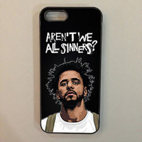 Black J Cole Carbon Quote Custom For iPhone 7 Print On Hard Plastic Case