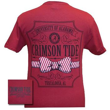 SALE Alabama Crimson Tide Southern Class Bow Prep Red Girlie Bright T Shirt