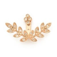 Jacquie Aiche Cluster Stud And Mirrored Leaves Earring