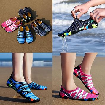 Light-Weight Water Sports Multi-Color Slip-on Shoes