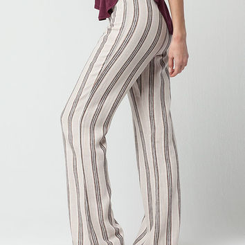 FULL TILT Striped Linen Womens Beach Pants | Pants + Joggers