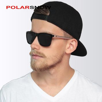 POLARSNOW Aluminum+TR90 Sunglasses Men Polarized Brand Designer Points Women/Men Vintage Eyewear Driving Sun Glasses