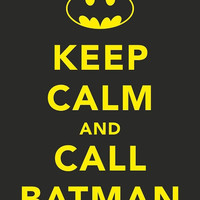 Call Batman 8x10 Print by MumsTheWordPrints on Etsy