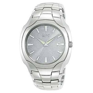 Citizen Eco-Drive Mens Watch - Stainless Steel - Silver Dial