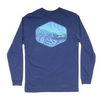 Under the Neon Long Sleeve Tee in Navy by Waters Bluff