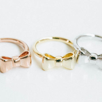 Dainty bow tie knuckle ring,tie knuckle ring,big ribbon ring,ribbon jewelry,dainty ring,above knuckle ring,little finger,teens ring,,SKD19