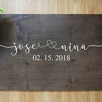 FAST SHIPPING Rustic Wedding Guest Book Alternative Guest Book Wedding Guestbook Alternative Custom Guest Book Wood Guest Book Canvas Wedding Guestbook. Sign #F01