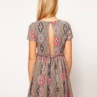ASOS Soft Skater Dress In Paisley at asos.com