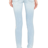 Acquaverde Skinny Jean in Light Used Denim Destroy | REVOLVE