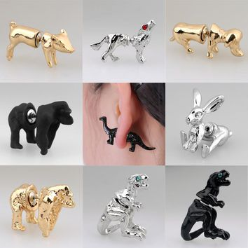 18 Styles | Gold, Silver & Black Animals Stud Earring for Women