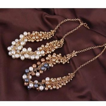 Lavish Pearl and Gold Necklace