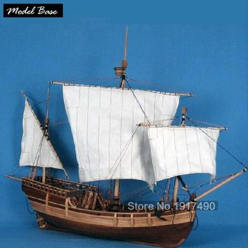 Wooden Ship Models Kits Train Hobby Model-Wood-Boats 3d Laser Cut Scale 1/50 Model-Ship-Assembly Diy Educational Toy Pinta