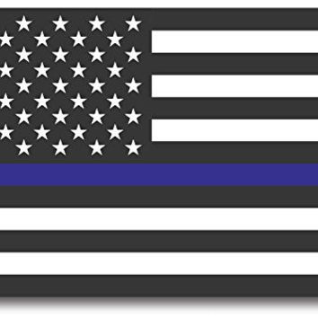 Thin Blue Line American Flag Magnet Decal - Heavy Duty for Car Truck SUV