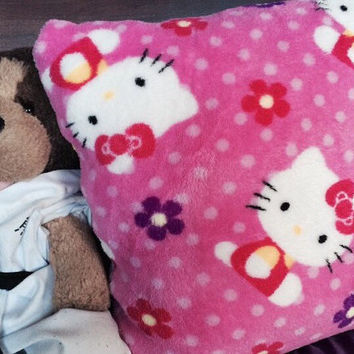 Plush Hello Kitty Bed Pillow For Toddlers