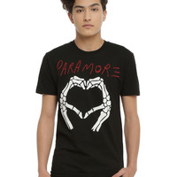 Paramore Skeleton Hands Heart T-Shirt