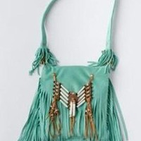 Spell Bone & Tassel Bag in Turquoise