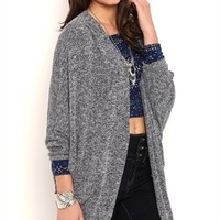 Knit Cocoon Cardigan with Elbow Length Sleeves