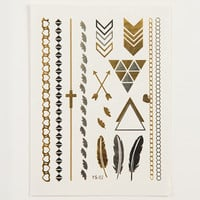 Metallic Temporary Tattoos - Tribal - Silver/Gold / One