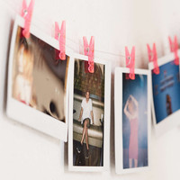 Pink Photo Clips String Set - Urban Outfitters