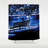 Blue Morning Shower Curtain by Art by Mel | Society6