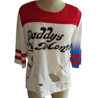 Squad Harley Quinn T Shirt Daddy's Lil Monster T-Shirt Joker Cosplay Costume BEST SELLER THIS SEASON