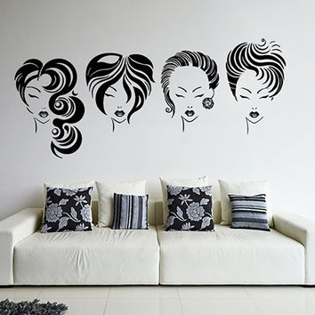 kik869 Wall Decal Sticker  beauty salon beautiful girl hair care haircut makeup manicure nail varnish the Reception entrance hall