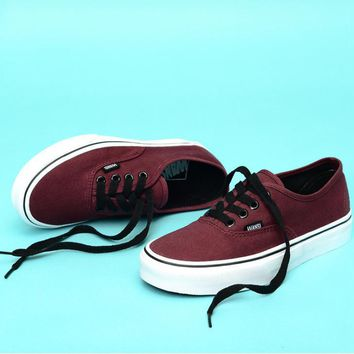 Vans Casual Classic Shoes Retro low tops Shoes Wine red