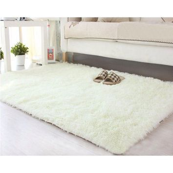 NK Home 16x24'' Rectangle Oblong Shape Bedroom Fluffy Rugs Anti-Skid Shaggy Area Office Sitting Drawing Room Gateway Door Carpet - Walmart.com
